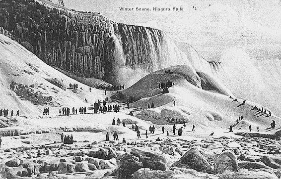 Ниагарский водопад замерз