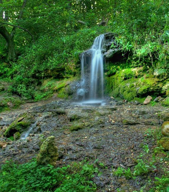 Водопад в Пущино