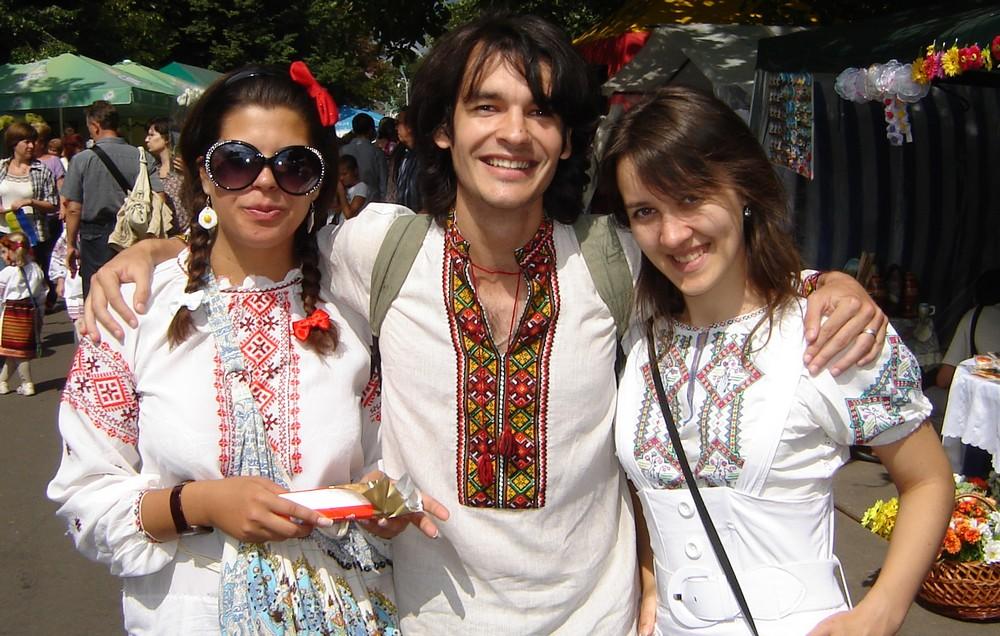 Современная украинская вышиванка