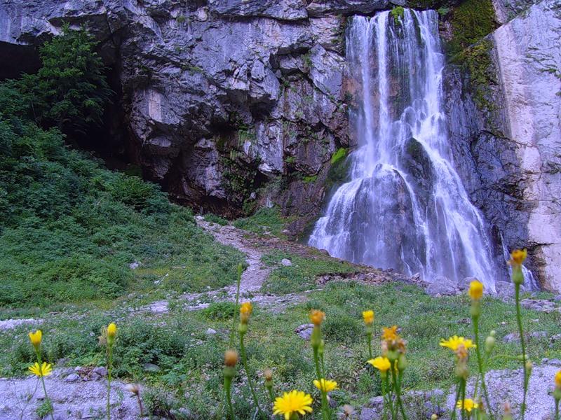 Гегский водопад в Абхазии