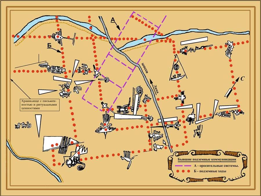 Пустыня Наска рисунки карта