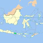 Бали на карте