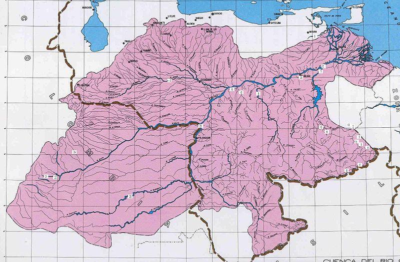 Ориноко на карте