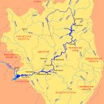 Река Чусовая карта