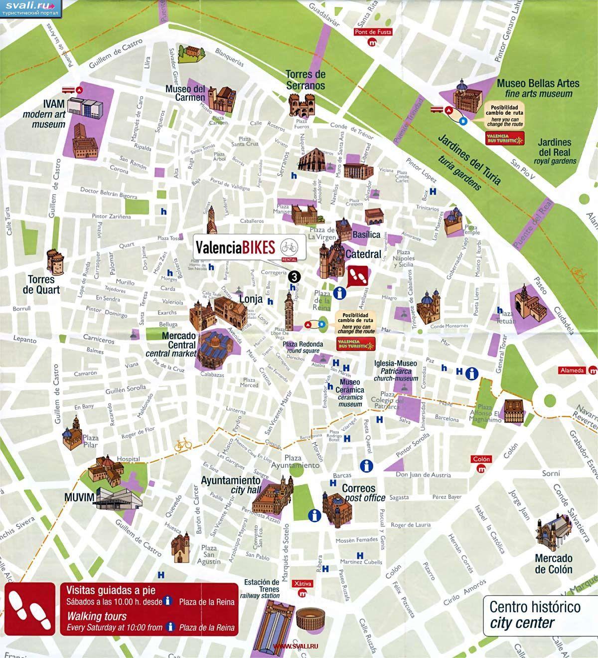 Валенсия (Испания): фото, видео, город наук и искусства ... Валенсия Испания Карта