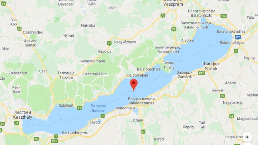 Озеро Балатон - карта на русском языке