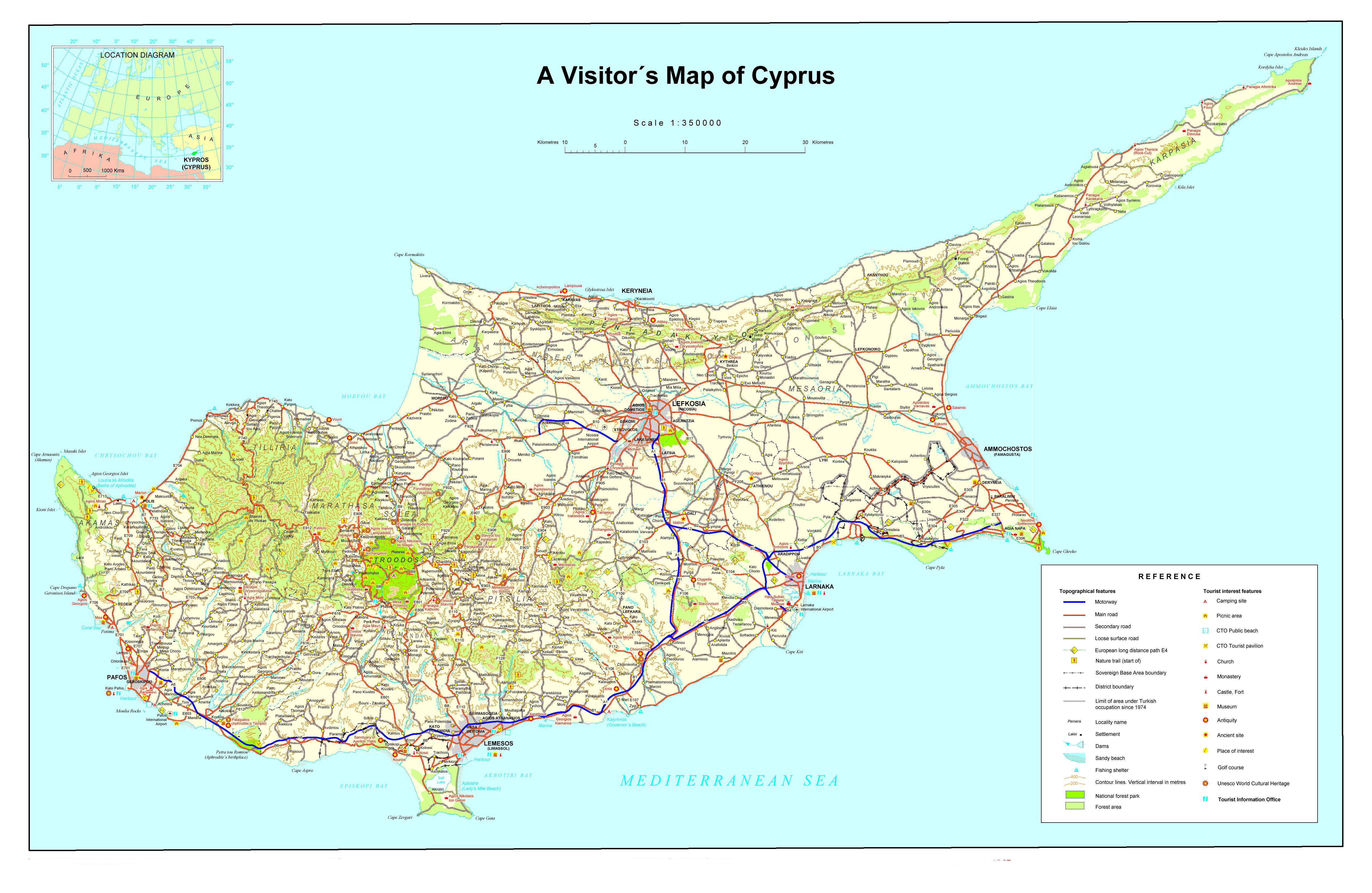 кипр карта фото