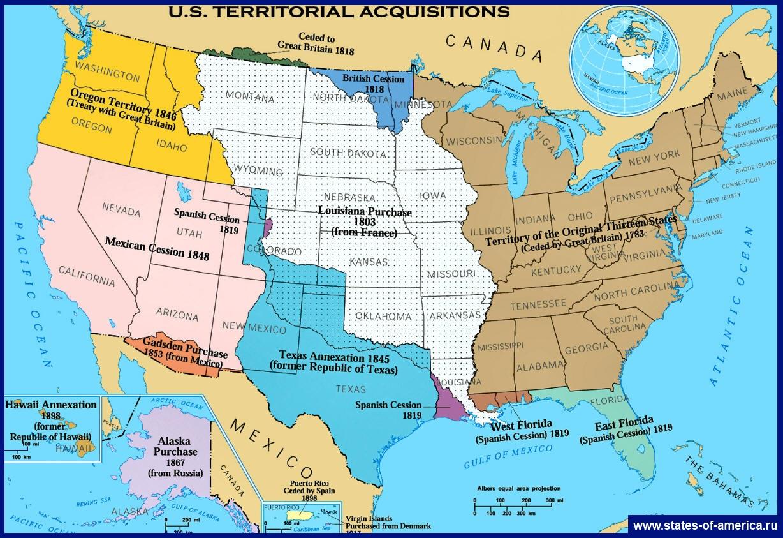 Карта США | Подробная карта США на русском языке