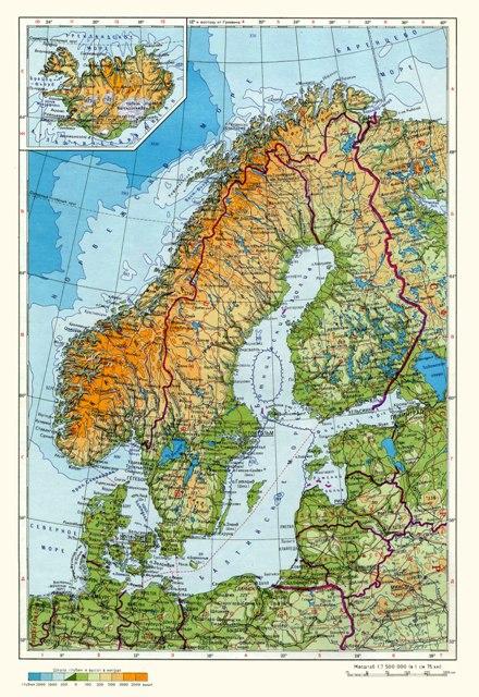 карта Швеции на русском языке.