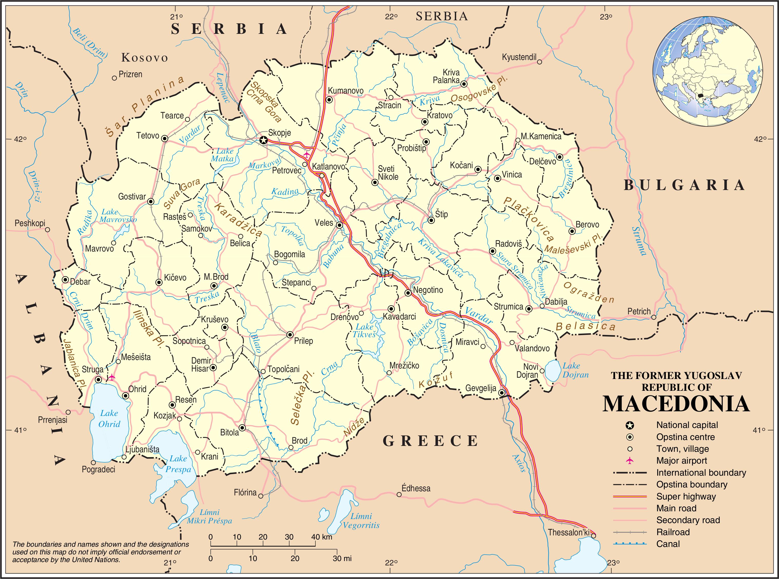 Karta Makedonii Makedoniya Na Karte Evropy I Mira Webmandry Com