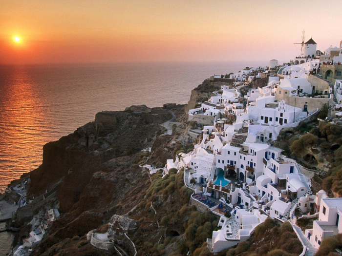 Греция зимой.