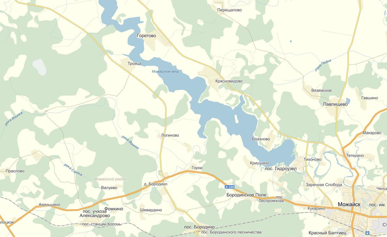 Схема можайского водохранилища
