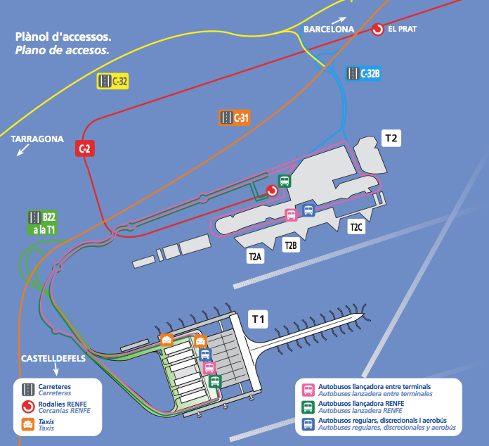 barcelona el prat map