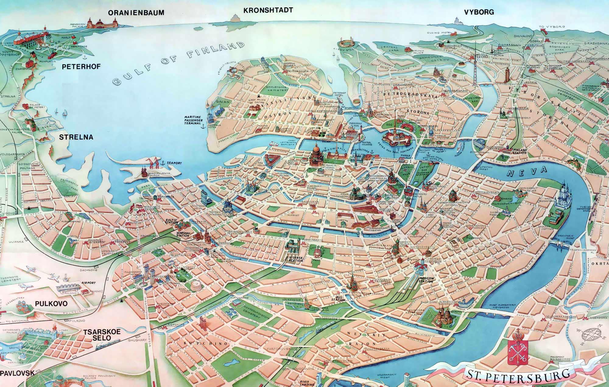 Карта города санкт-петербурга картинки