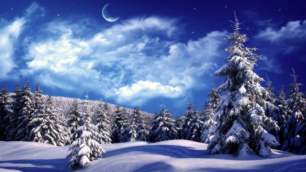 Новогодние заставки - пейзажи зимней природы