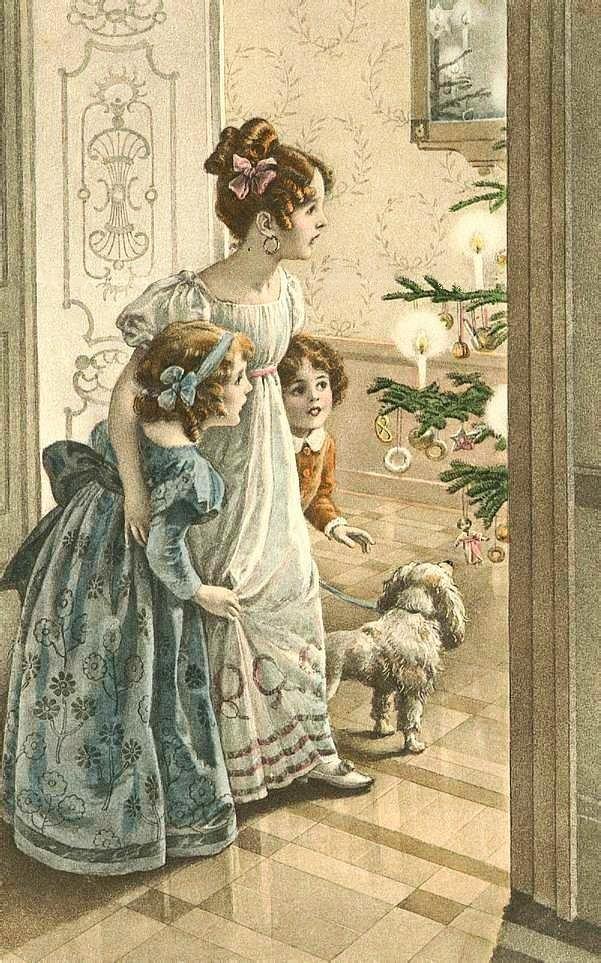 Старинные дореволюционные открытки на Новый год