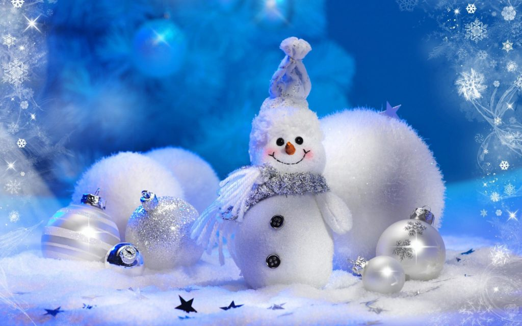 Новогодние Обои Со Снеговиками На Телефон
