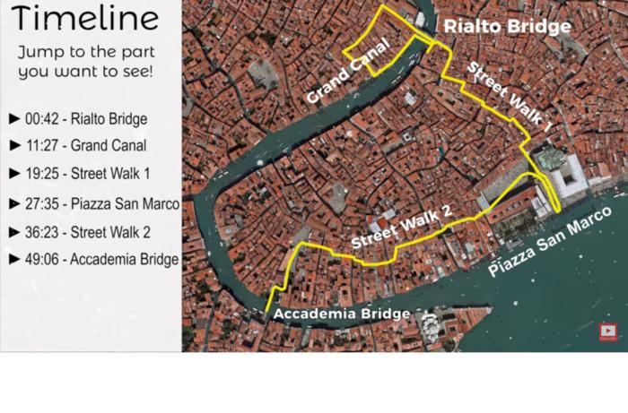 Город Венеция видео-экскурсия - виртуальная, самостоятельная и бесплатная