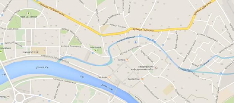 Карта - как и где протекала речка Малый Уж