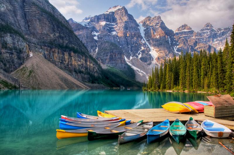 Самые чистые озера мира - озеро Морейн
