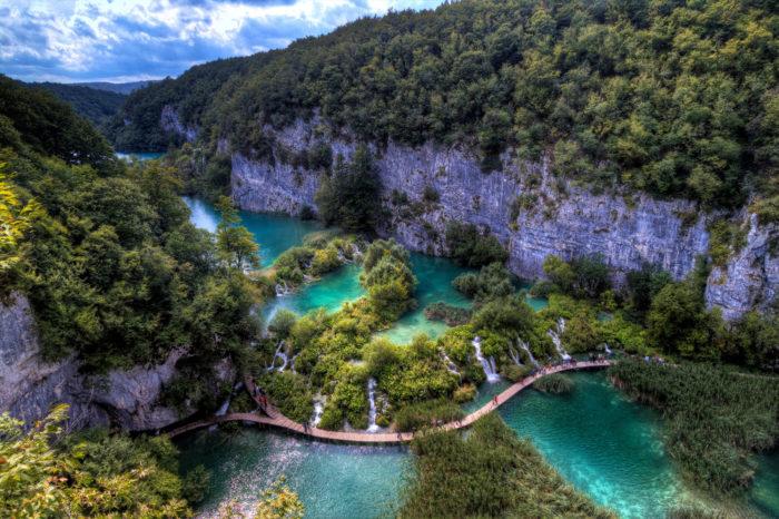 Самые популярные озера мира - Плитвицкие озера