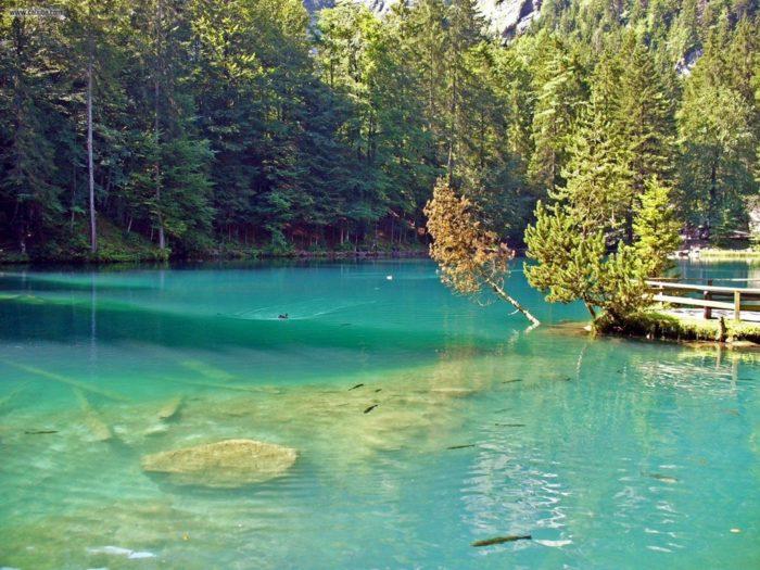 Самые чистые озера мира - Голубое озеро