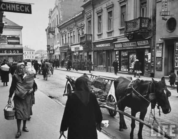 Ужгород, улица Корзо - старые фото