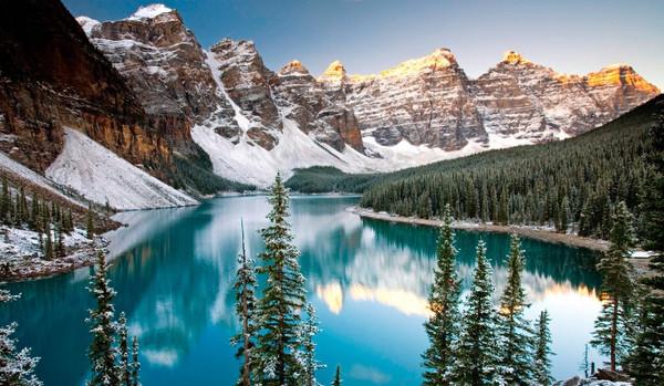 Самые красивые озера мира - озеро Морейн