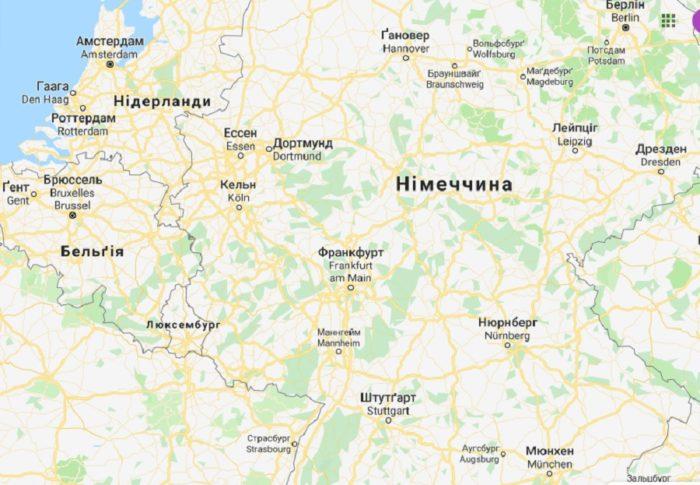 Город Дортмунд на карте Германии на русском языке