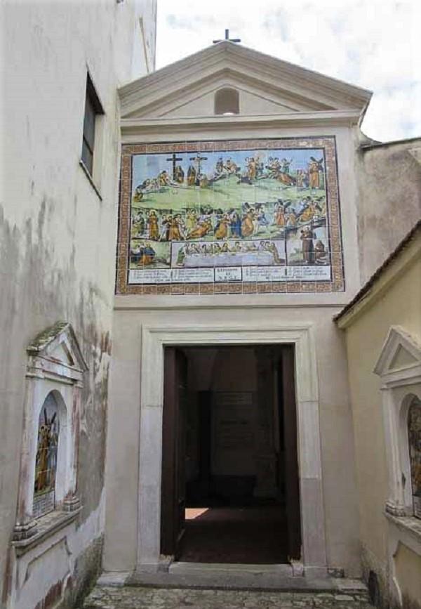 Расколотая гора (Montagna Spaccata) проход к часовне св. Филиппа