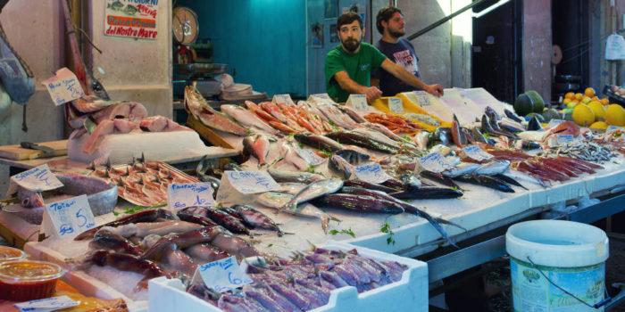Рыбный рынок вГаэте