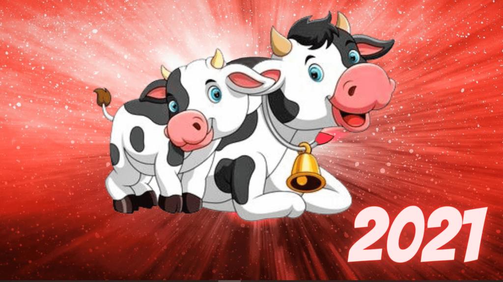 Заставки и картинки с быками на Новый год 2021