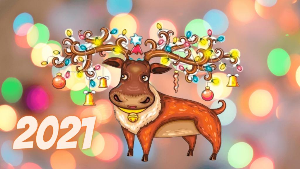 Заставки с быком на Новый год 2021 - красивые и оригинальные