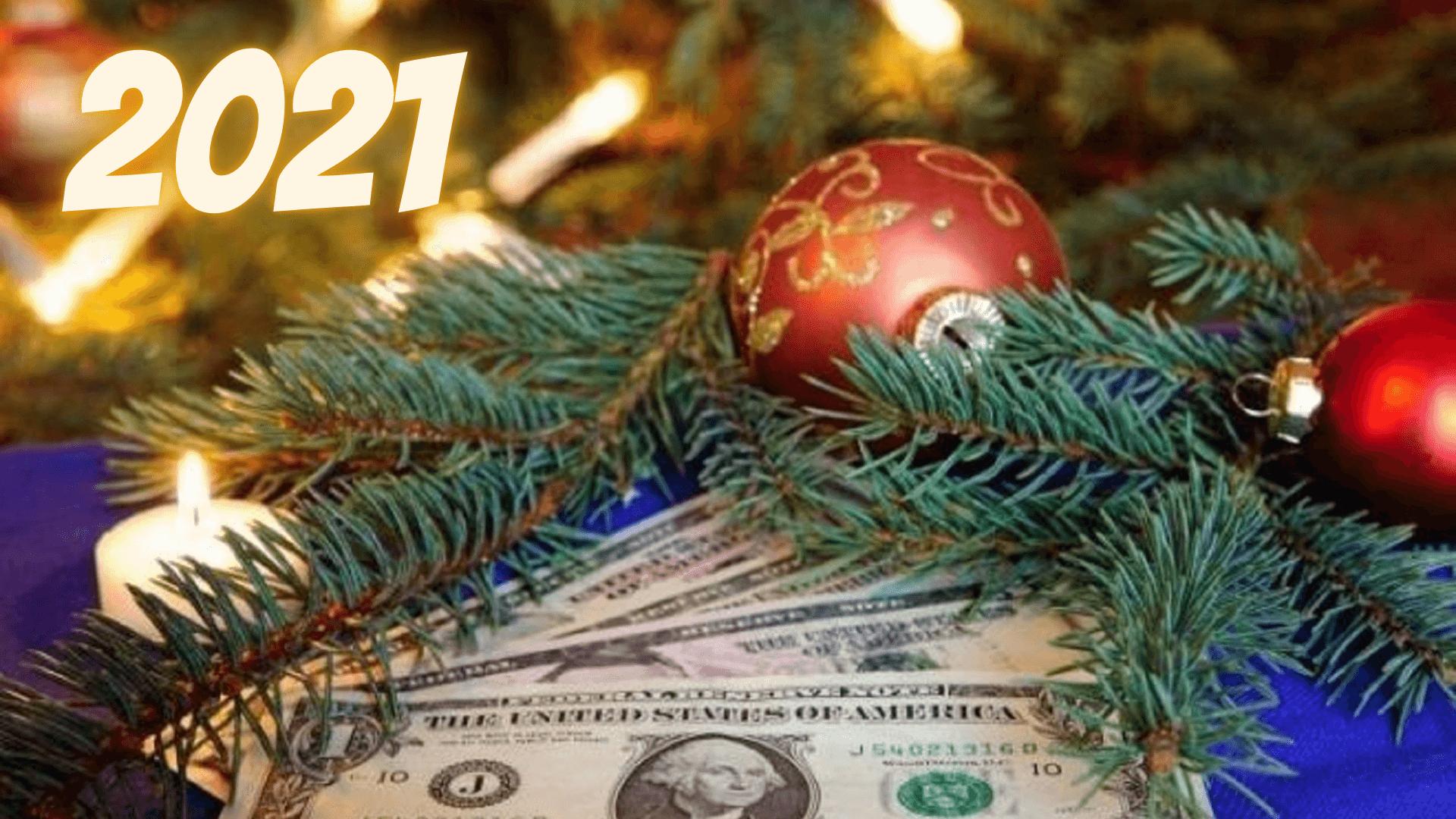 Заставки на компьютер на Новый год 2021 с быками и долларами