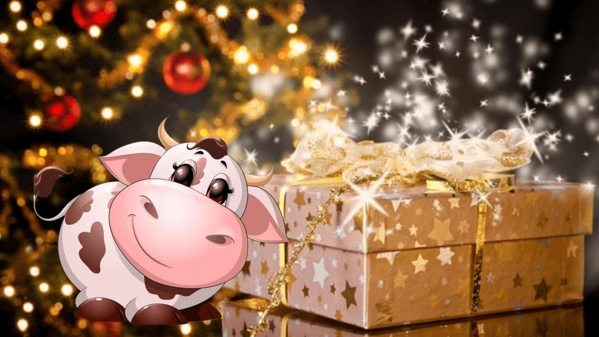 Новогодние картинки с быками на телефон - оригинальные и стильные
